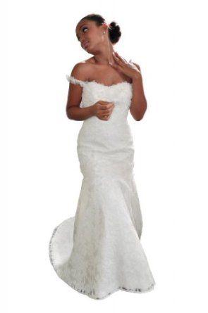 Pamelafox Women's Fishtail Wedding Dress