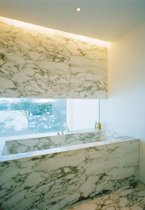bold marble choice but like the built in tup by window. Designed by Swedish architects Jonas Lindvall A