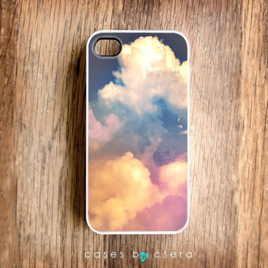 Boxing Day Sale - iPhone 5 Case, iPhone 4 Case - Clouds iPhone 4 Case, Case for iPhone 5, iPhone 4S Case, iPhone 4 Cover. $17.99, via Etsy.