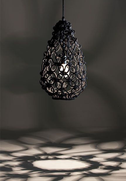 hand-knotted egg light lamp