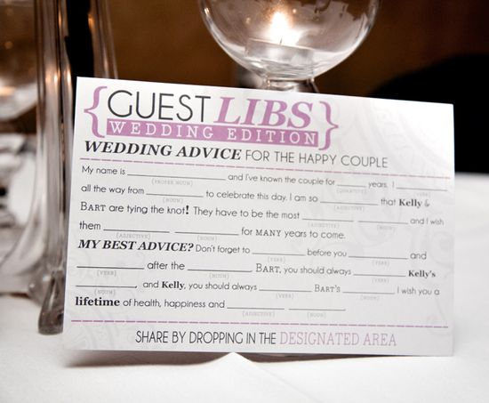 mad lib wedding