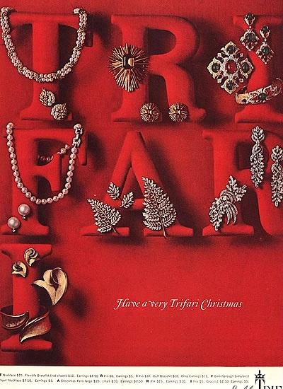1965 Trifari Christmas Ad