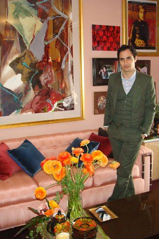 Zac Posen at 16 West 21 street in NYC featuring his living room design