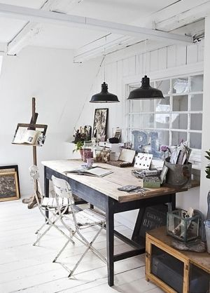 Home office inspiration by sarah: love the idea of a window in the wall!