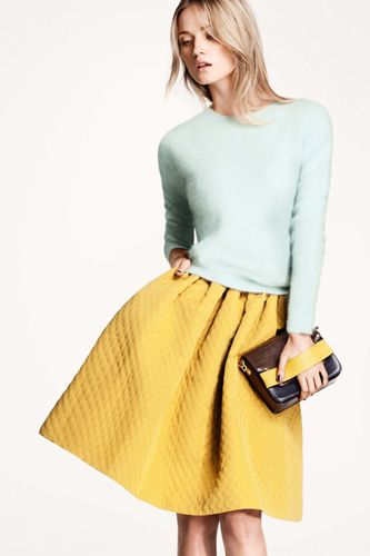 50's chic oversized skirt from H and M