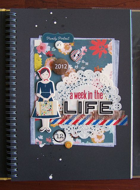 Title Page - Week in the Life Smash Book by Tessa Buys, via Flickr