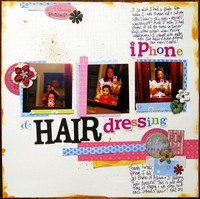 iphone + diy hair dressing