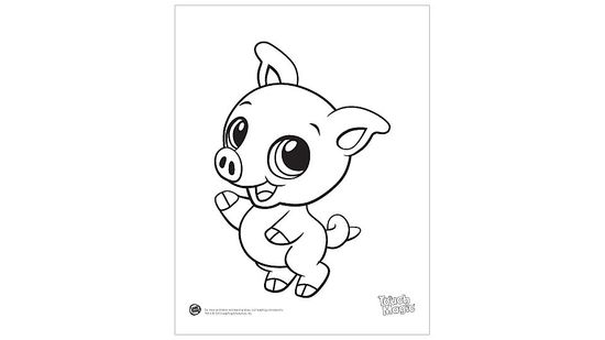Baby Animal 'Pig' Coloring Printable
