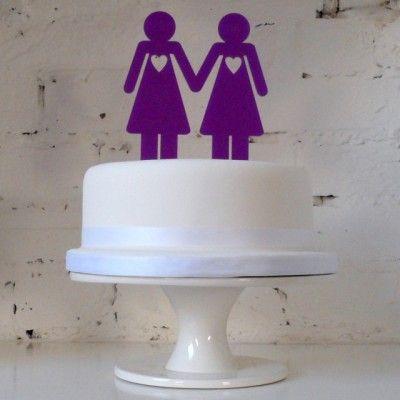 Same-sex wedding cake topper!
