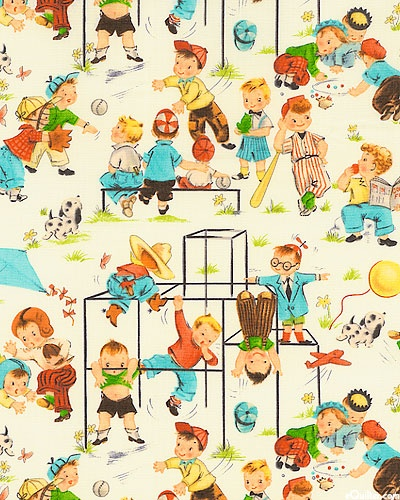 Funtimes' from Michael Miller. Would be a cute blanket for a boy