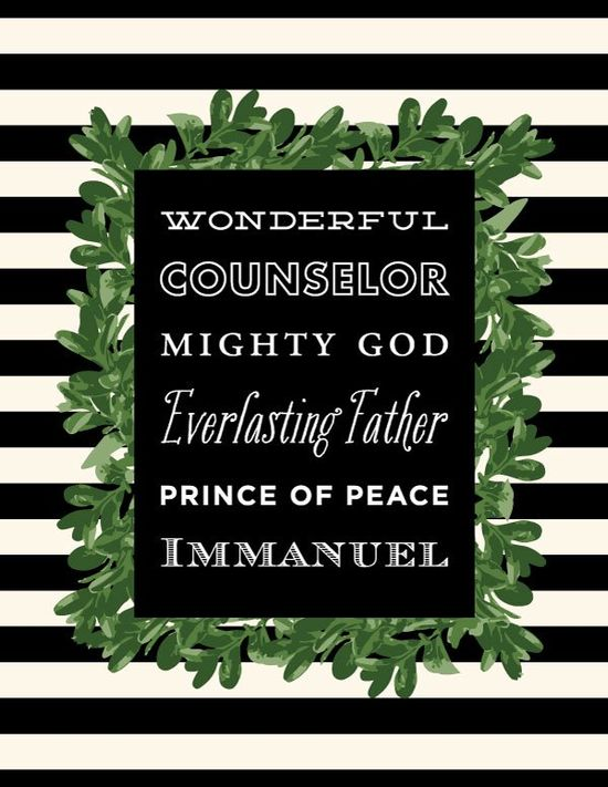 Free Immanuel Holiday Printable