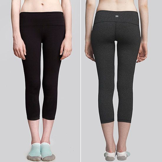 These Cory Vines Crop Leggings ($45) are soft, form-fitting, flattering, and extremely comfortable: wide waistbands, flatlock-stitched seams, and no tags to annoy you while you exercise. The best part? These backside-lifting leggings are half the price of similar slimming pants.
