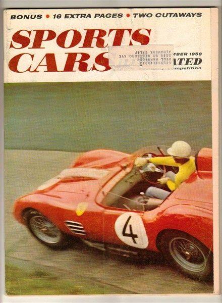 Sports Cars Illustrated Dec 1959 Old Vintage Magazine Valiant Gendebien #sport cars #ferrari vs lamborghini #customized cars