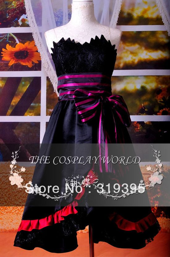 VOCALOID LUKA Cosplay Costume black dress Halloween Chirstmas Performance Clothing CCF0217