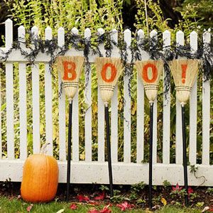 100 Days of Holidays: Halloween Decor: Boo Brooms (via Parents.com)