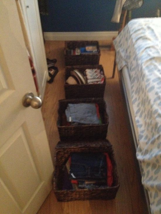 Under the bed storage baskets fits my summer clothes