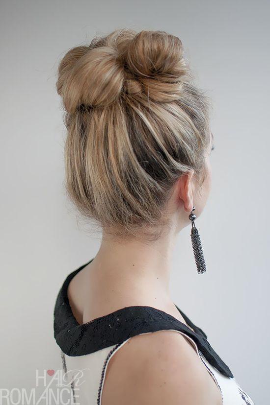 Hair Romance - 30 Buns in 30 Days - Day 2 - Messy high bun