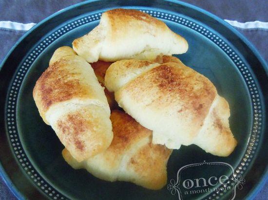 Cinnamon Crescent Rolls recipe #breakfast #freezercooking #kids