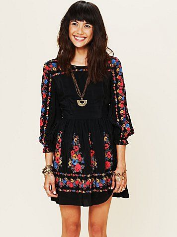 Love-would be so cute fall with capri leggings and sandals,or winter with leggings and brown riding boots--Age of Aquarius Print Dress