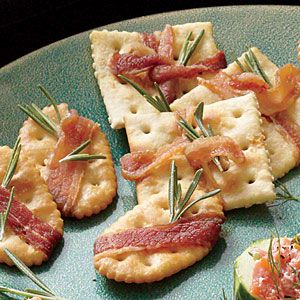 Savory Crisps with Bacon and Rosemary Recipe