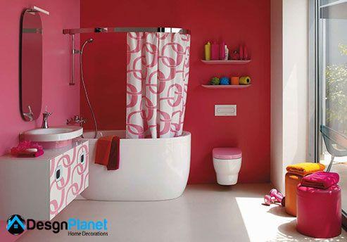 bright kids bathroom decor