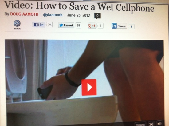 How to Save a Wet Cellphone  By Doug Aamoth -So you dropped your phone in the toilet. Here's a cheap and simple trick that just might save it. Pinned by SOS Inc. Resources.  Follow all our boards at pinterest.com/...  for therapy resources.