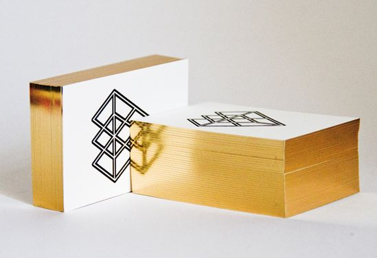 gold edged business cards