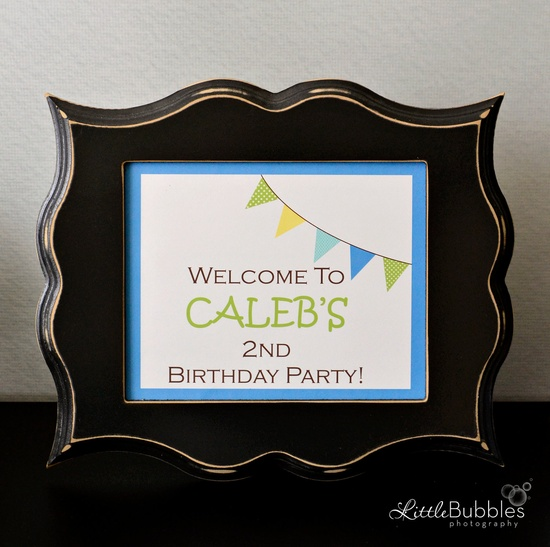 Custom PRINTABLE Color Splash Party Sign - by anna and blue paperie. $7.50, via Etsy.