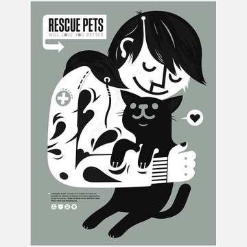 Rescue pets will love you better.