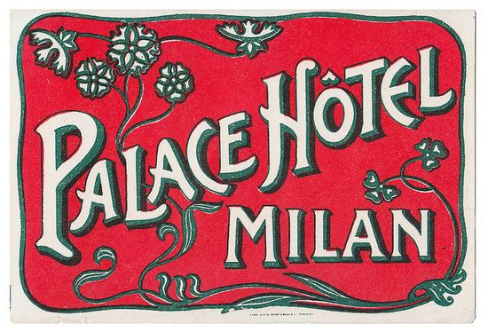 Milano - Palace Hotel by Luggage Labels