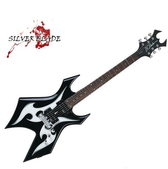BC Rich Warlock Silver Blade #just do it #handmade pottery #handmade ravioli
