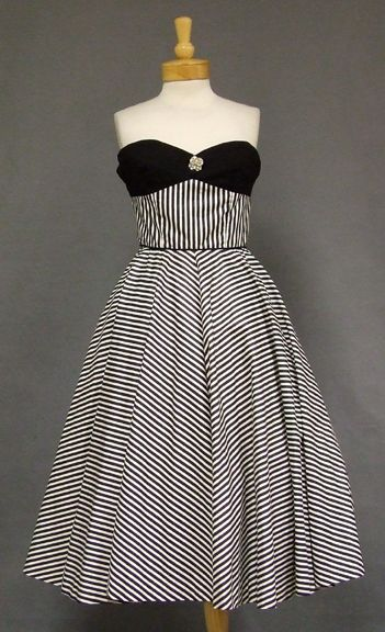Striped 1950's Party Dress