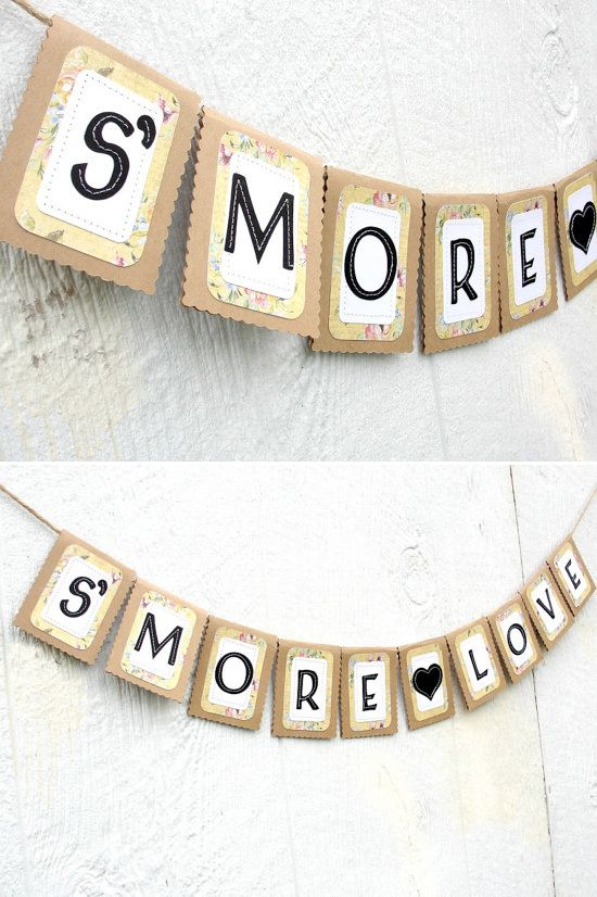 how adorable is this s'more love wedding banner. So many other cute banners at  Lazy Caterpillar  www.etsy.com/...