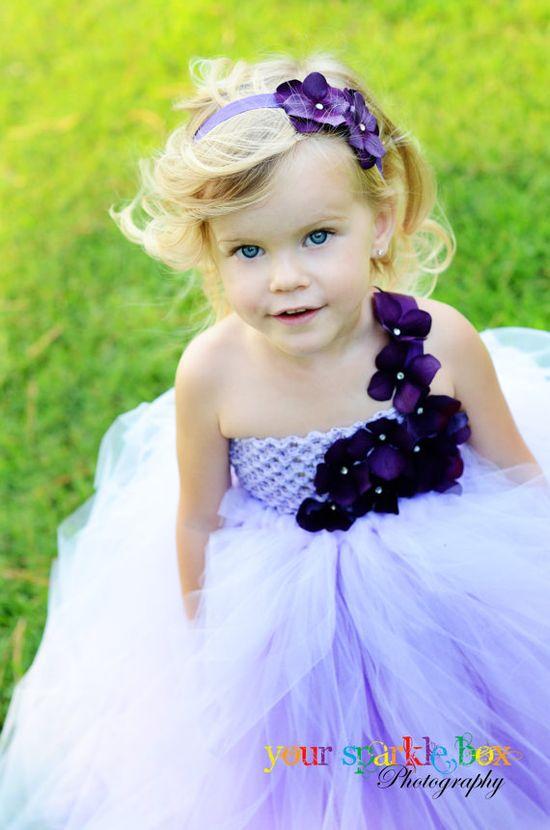 Gorgeous lavender flower girl dress.