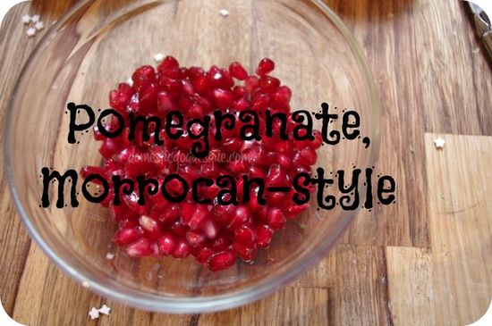 ? Cooking With Kids} Moroccan Style Pomegranate