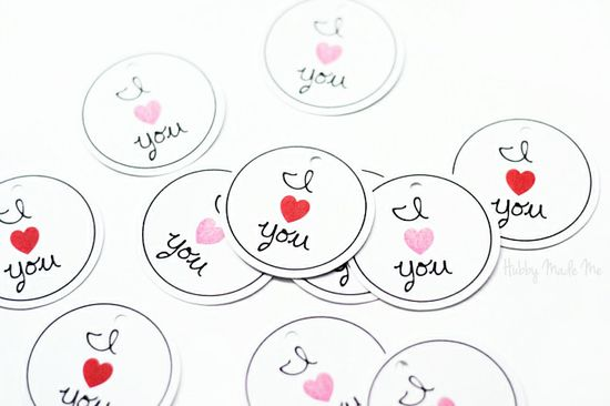 Free Printable 'I ? You' Tags! #valentines #day #printables