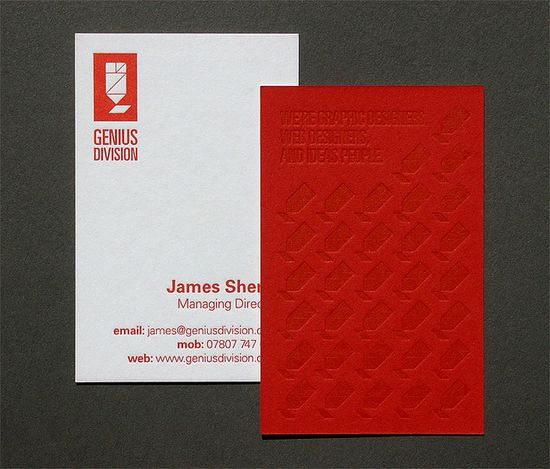 Genius Division Letterpress Business Cards by blush°°, via Flickr