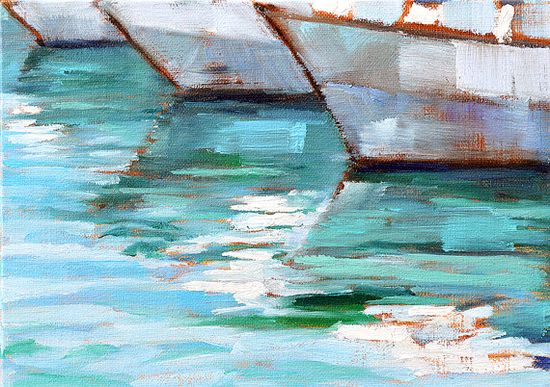 Sailboats- San Diego Landscape Painting