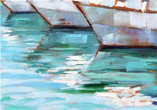 Sailboats- San Diego Landscape Painting