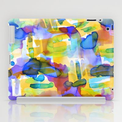 Tropico Tangerine iPad Case by Amy Sia  + free worldwide shipping
