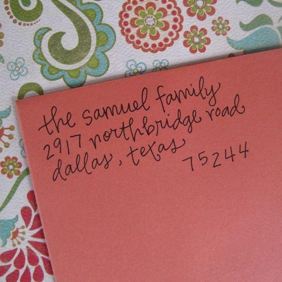 letter girl handwriting address stamp!