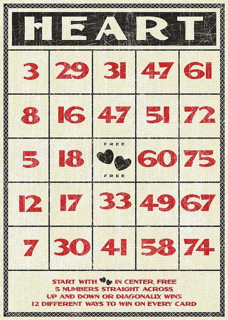 Free Valentines vintage style bingo card by Tonya Doughty, via Flickr