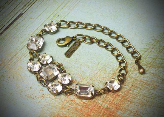 #Vintage #Rhinestone #Bracelet $49.00 @Rew Elliott #brigteam #fashion #shopping #accessories #style #tastemaker #wedding #bride #bridal #gift