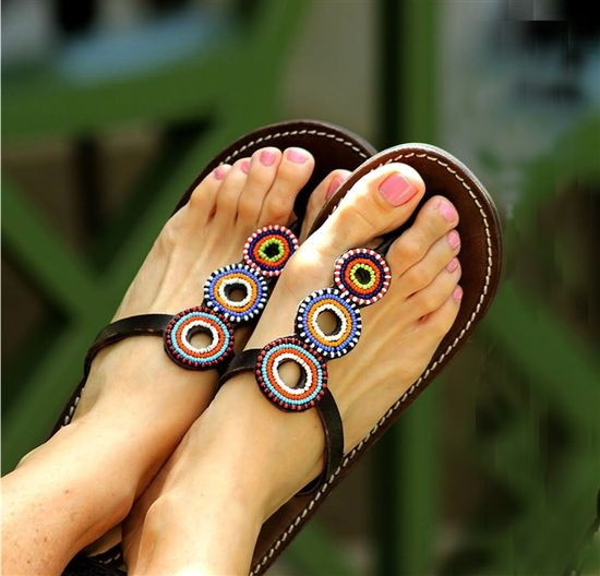 Aspiga hand made fair trade leather sandals - Odeya