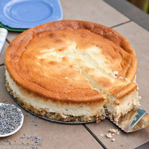 Lavender Cheesecake #30DaysofCAdairy @Lisa Phillips-Barton Phillips-Barton Choe California Milk