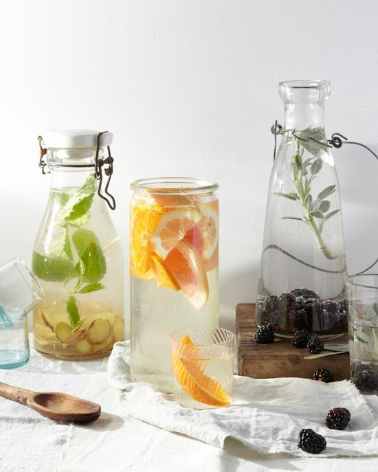 Three flavored waters