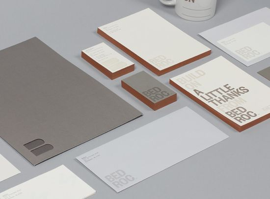 Logo, stationery and edge painted business card for technological consultancy firm Bed Roc designed by Perky Bros. #Logo #Branding #Design #Print #Stationery #BusinessCard