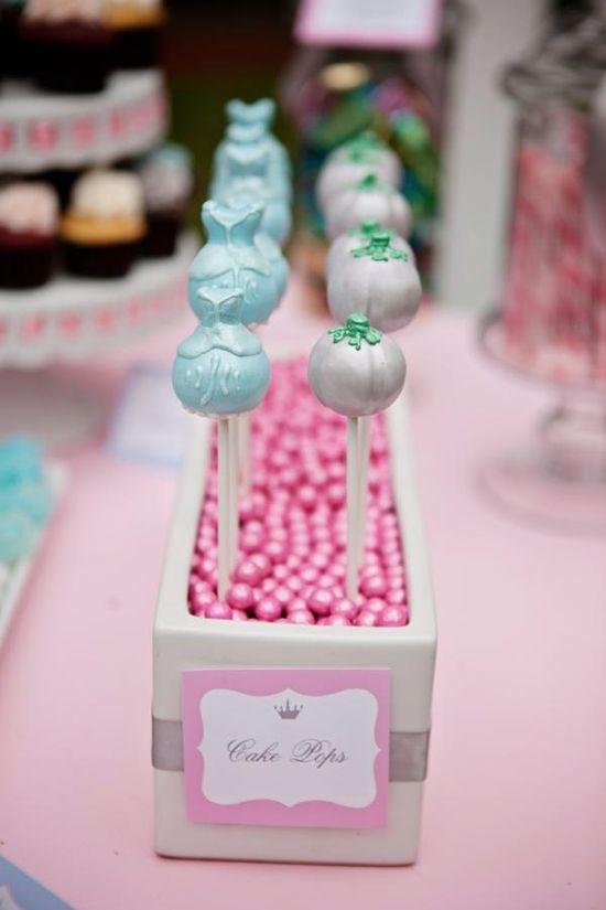 Princess themed cake pops via Kara's Party Ideas karaspartyideas.com #princess #themed #cinderella #cake #pops #ideas #party