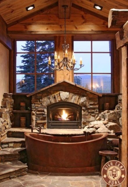 50 Wonderful Stone Bathroom Designs