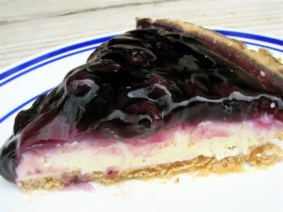 No Bake Fluffy Blueberry Cheesecake #Dessert #Recipe